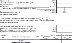Бухгалтерская отчетность формы 1 и 2