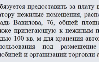 Договор аренды автосервиса с оборудованием образец