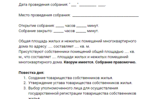 Государственная регистрация тсж