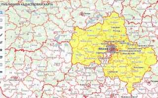 Кадастровый план москвы карта